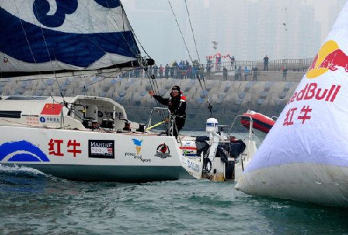 Guo Chuan back home after successful non-stop solo sail around world