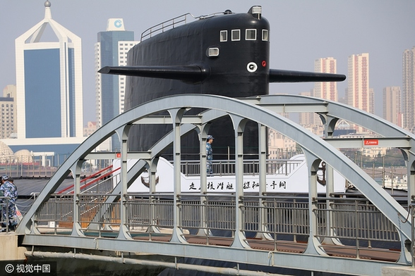 Nuclear submarine opens its doors to public in Qingdao