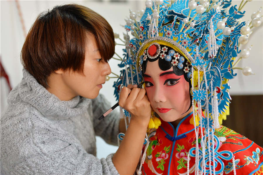 Peking Opera inherited in primary school
