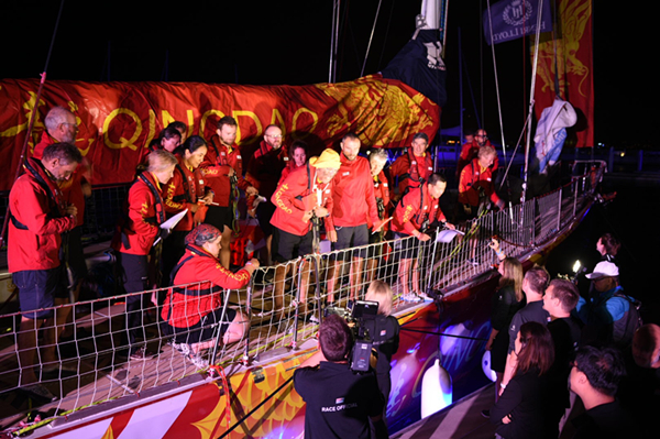 Qingdao claims third place in clipper race to Sanya