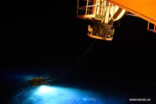 China's unmanned submersible dives to 4,266m under sea